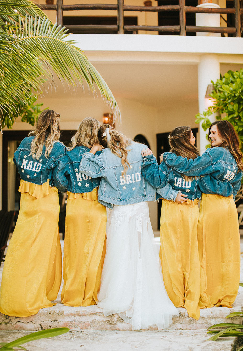 bridesmaid jean jackets