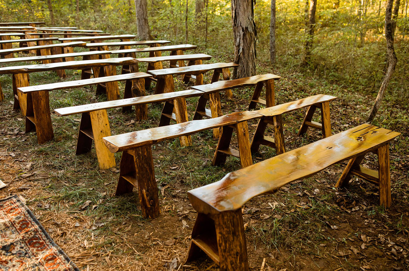 DIY wedding benches