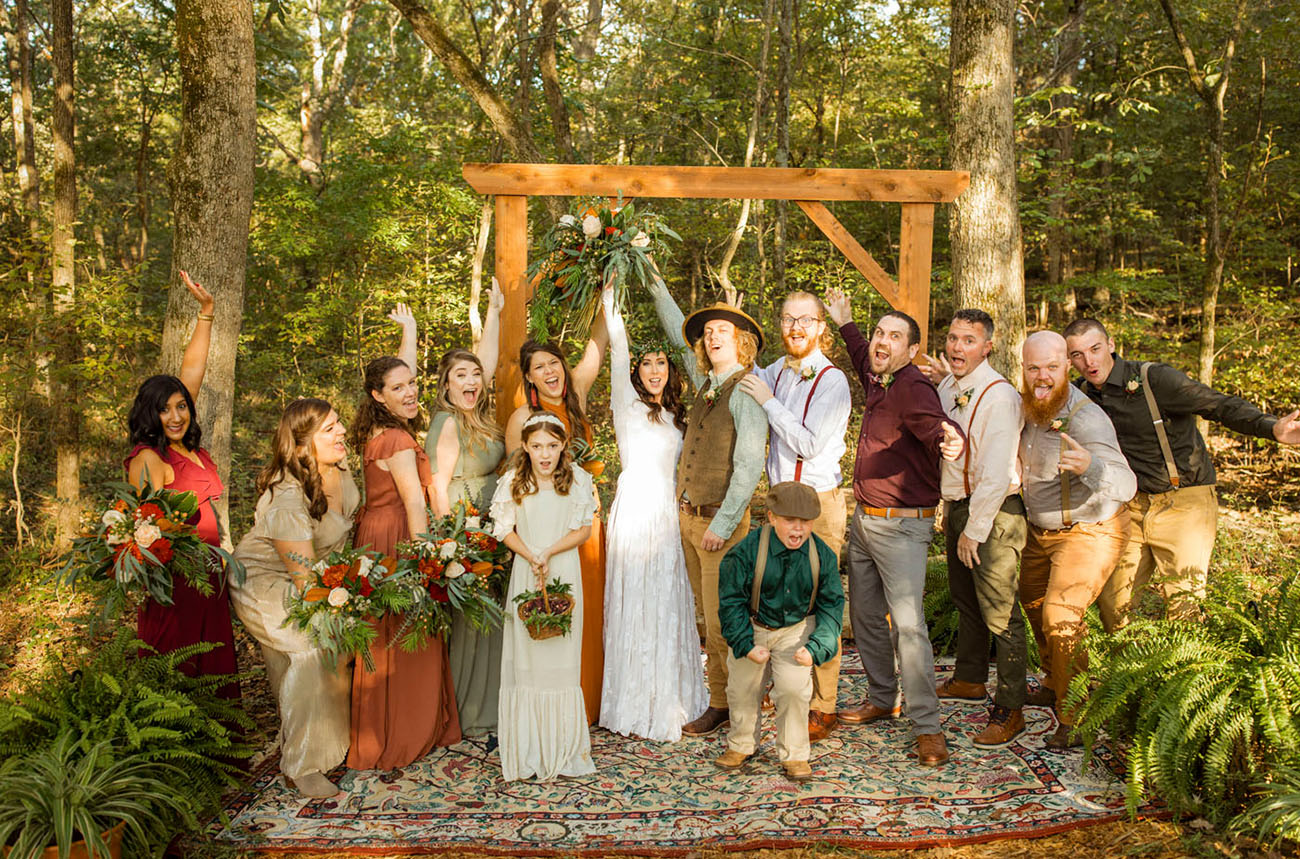 DIY Wedding in the Woods