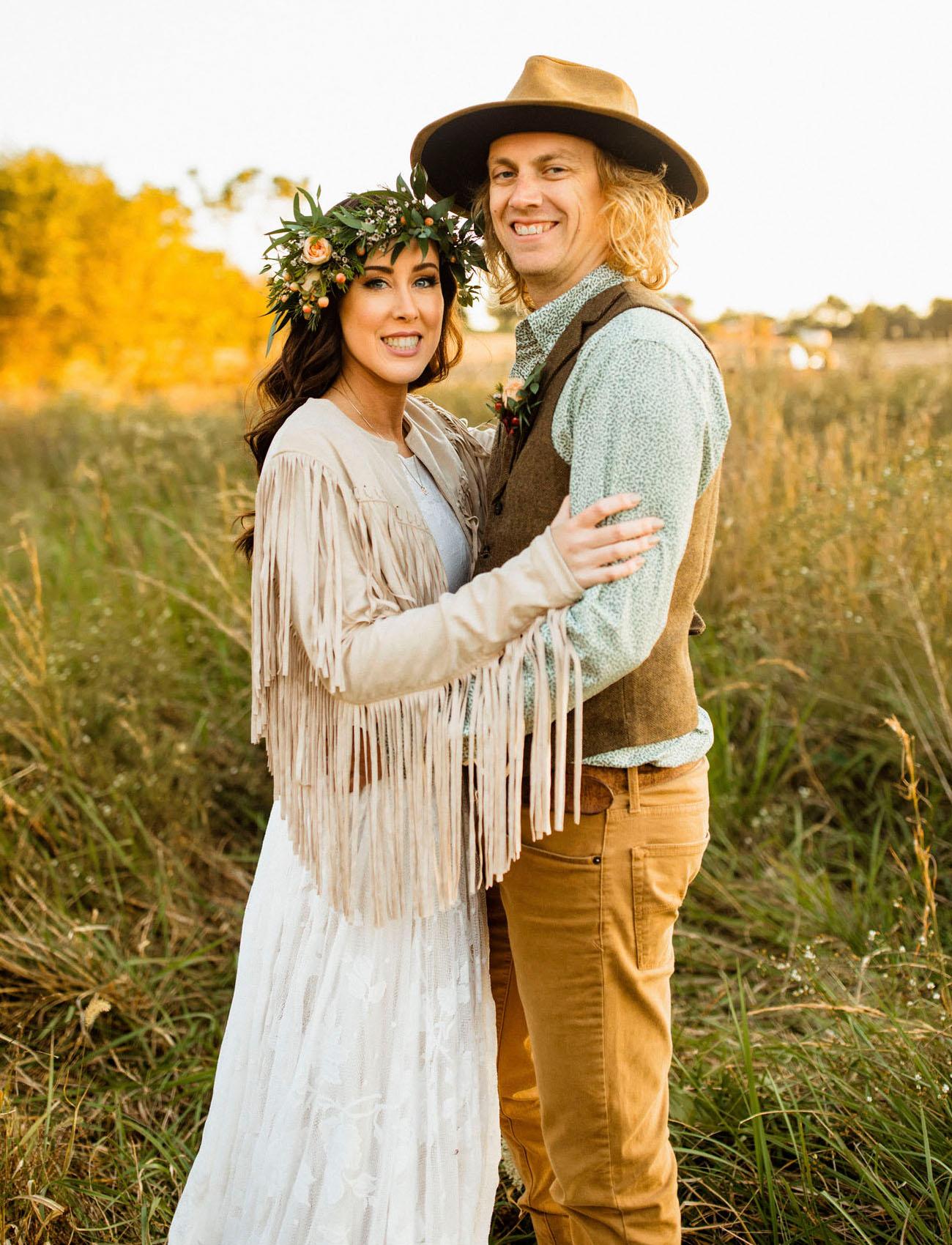 fringe jacket bride