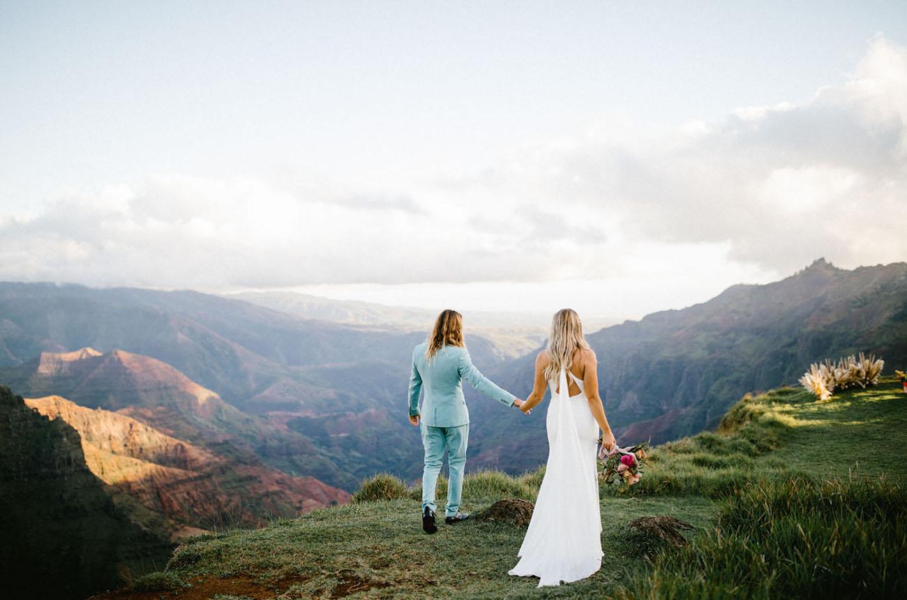 Bohemian Kauai Waimea Canyon Elopement