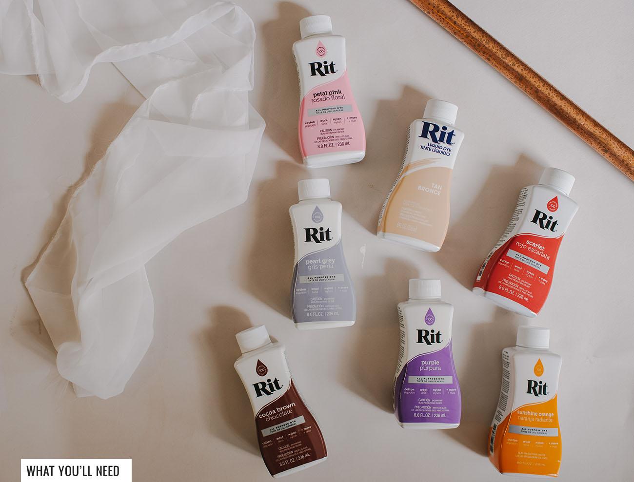 DIY RIT Dye Fabric Backdrop