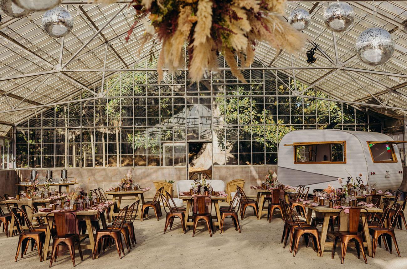 Modern Boho Greenhouse Wedding