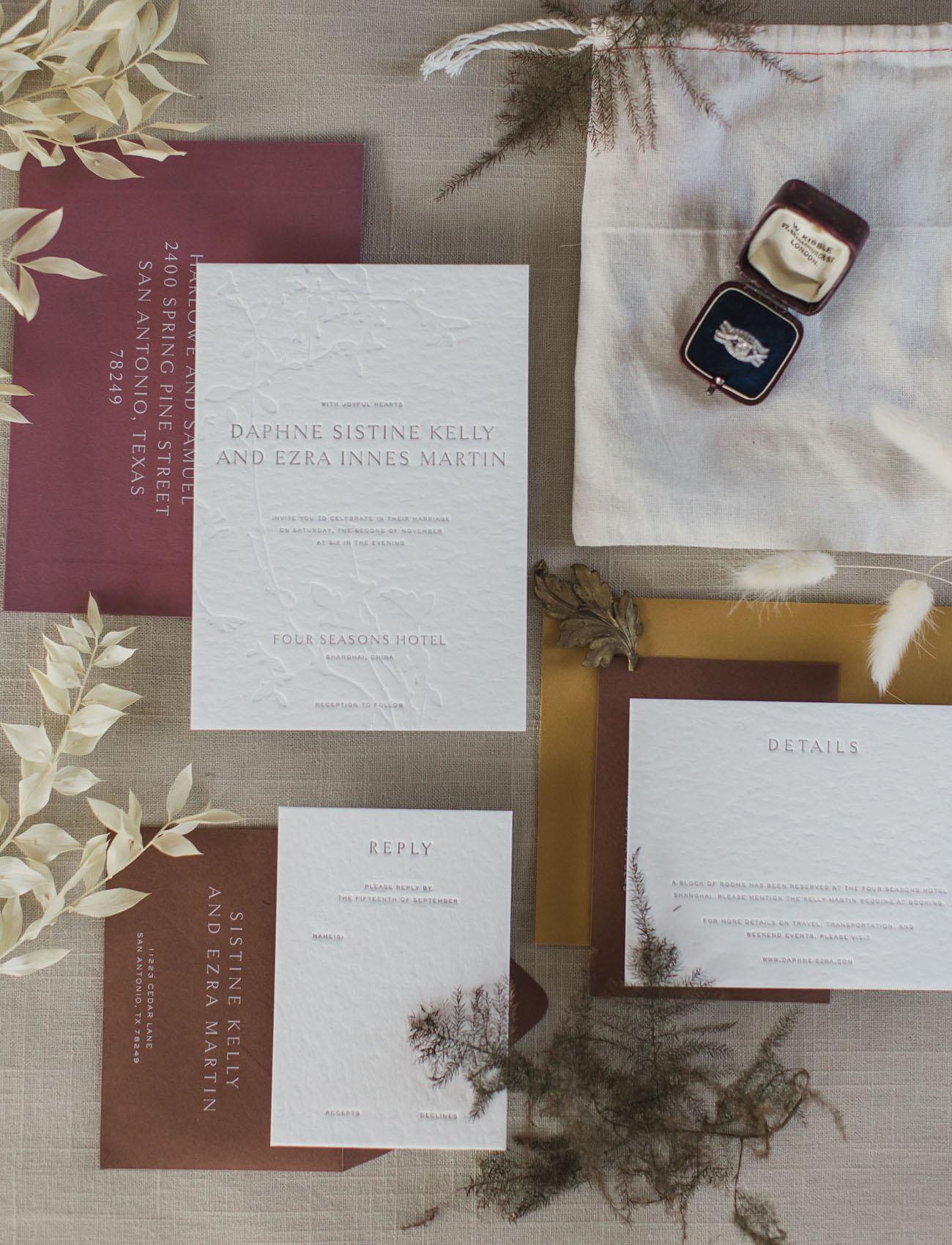 berry wedding invitation