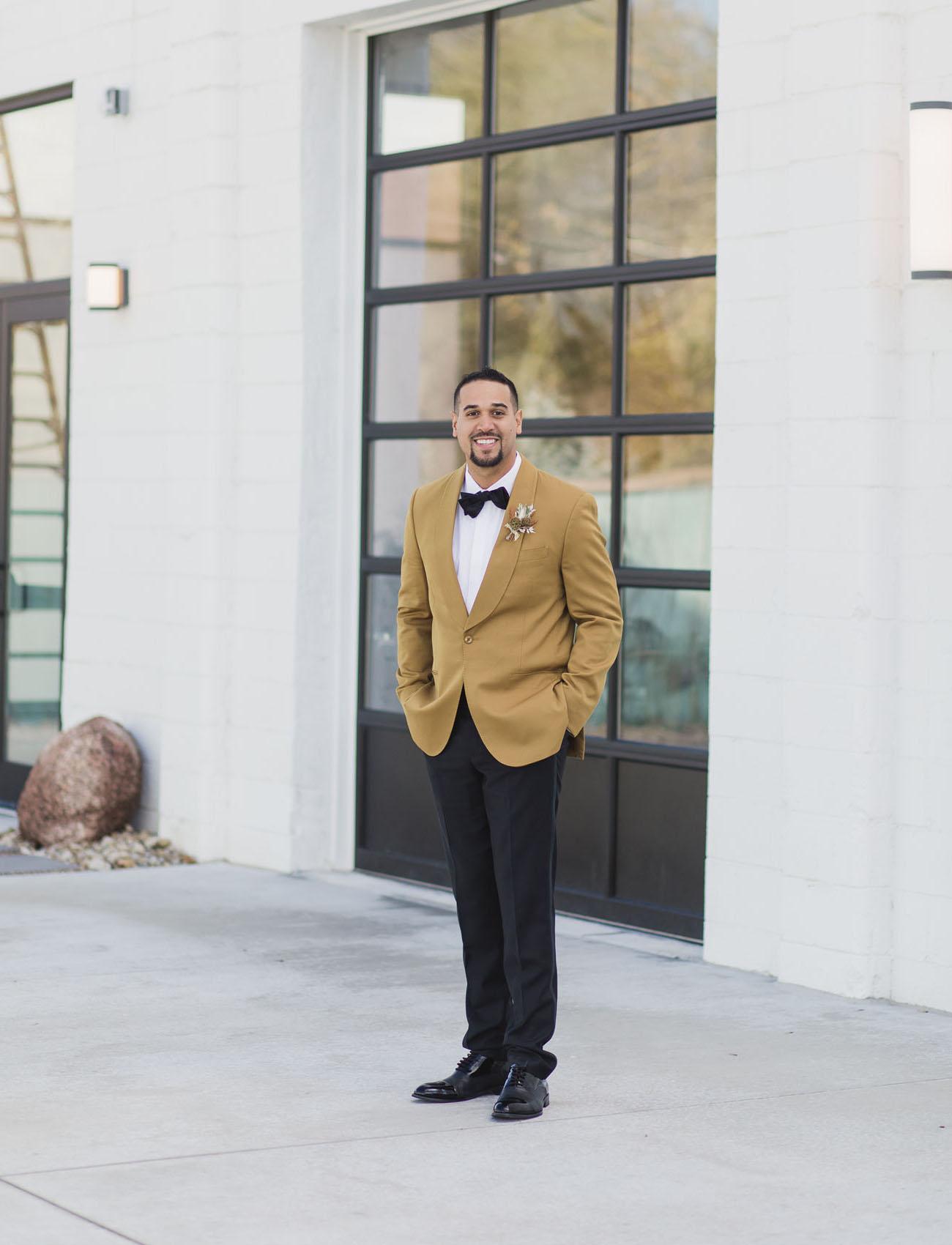 mustard grooms jacket