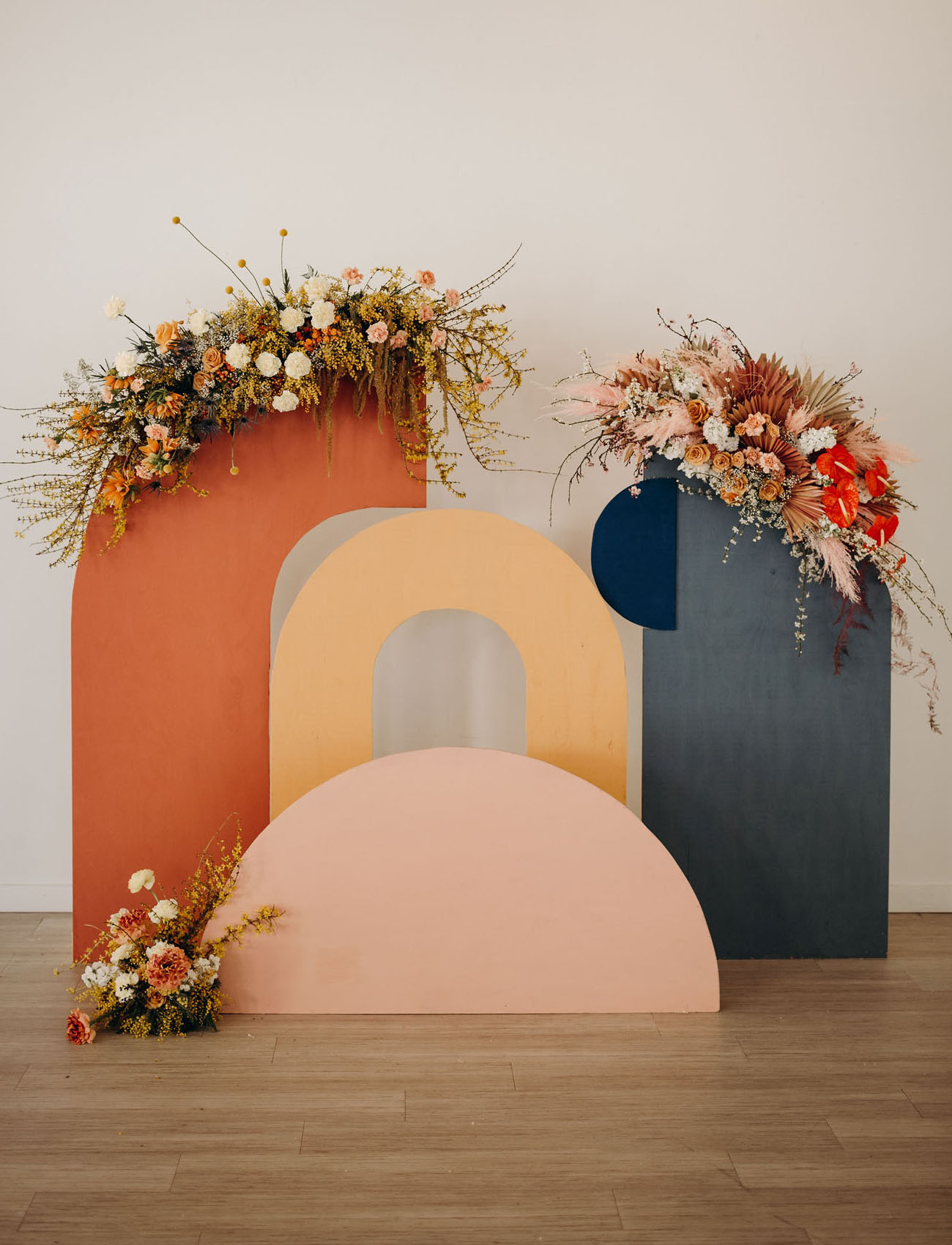 modern rainbow shape backdrop