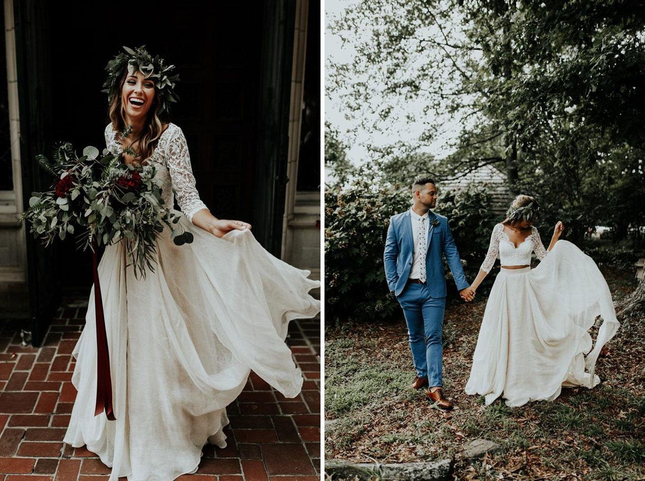 Etsy boho bridal dress