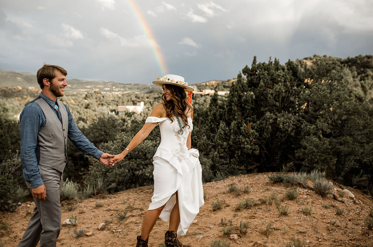 A Vibrant + Free-spirited Southwestern Wedding in New Mexico