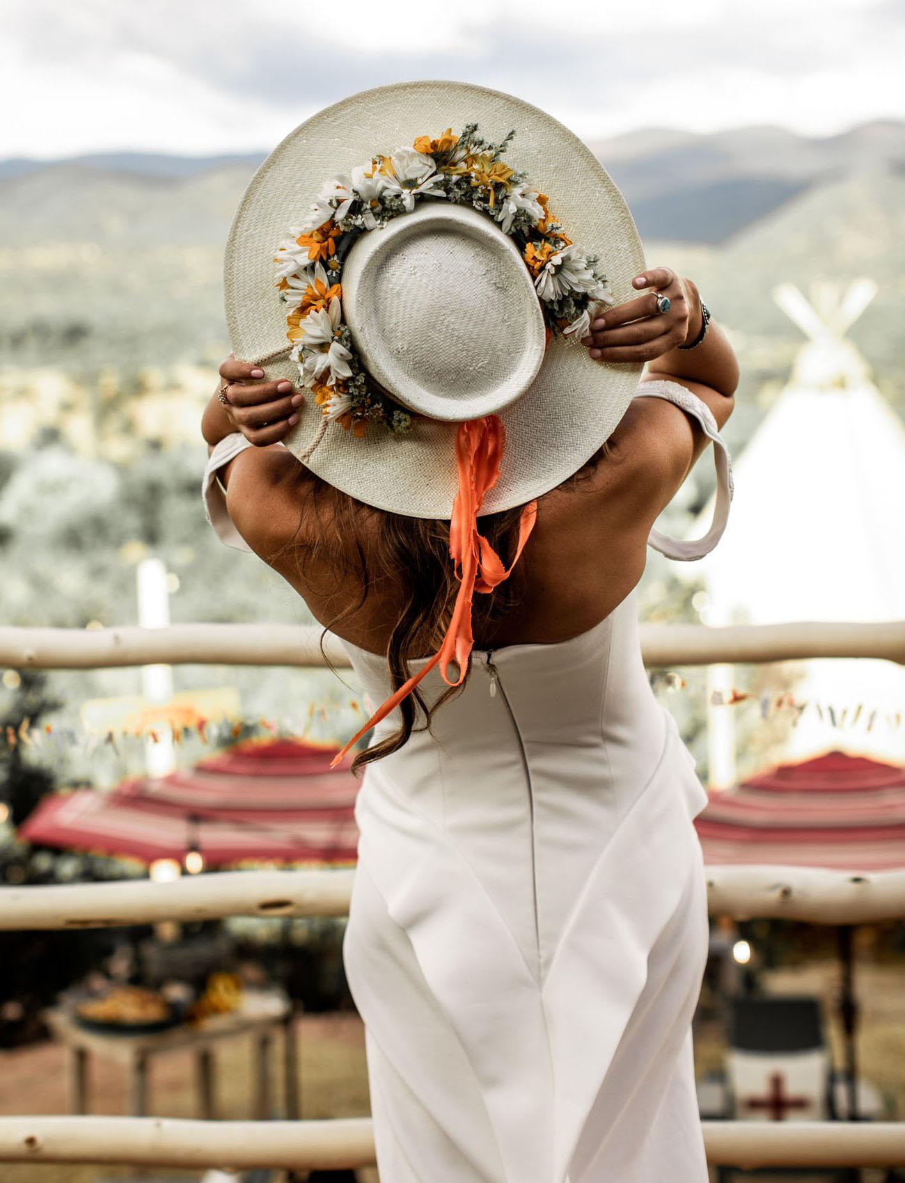 flower bridal hat