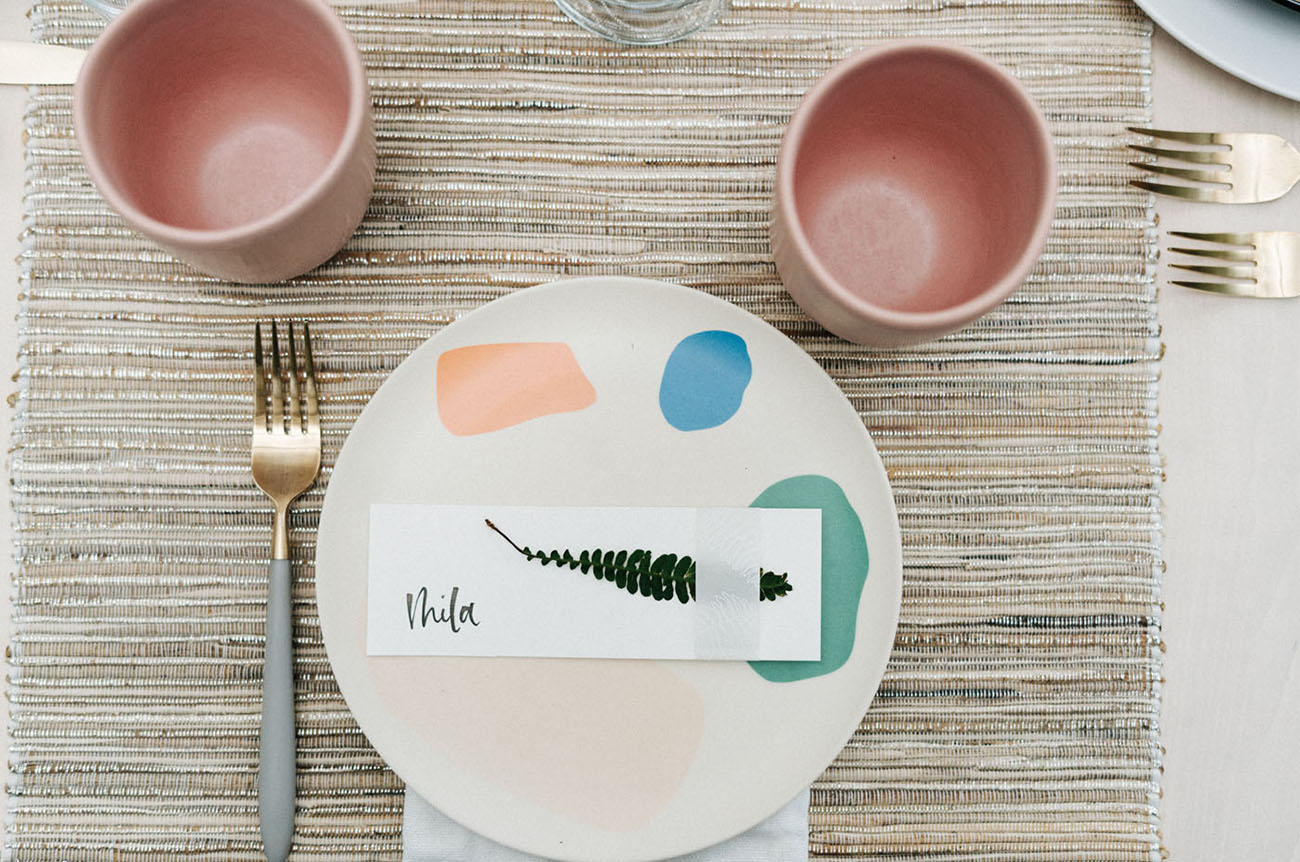 painted dinner plate