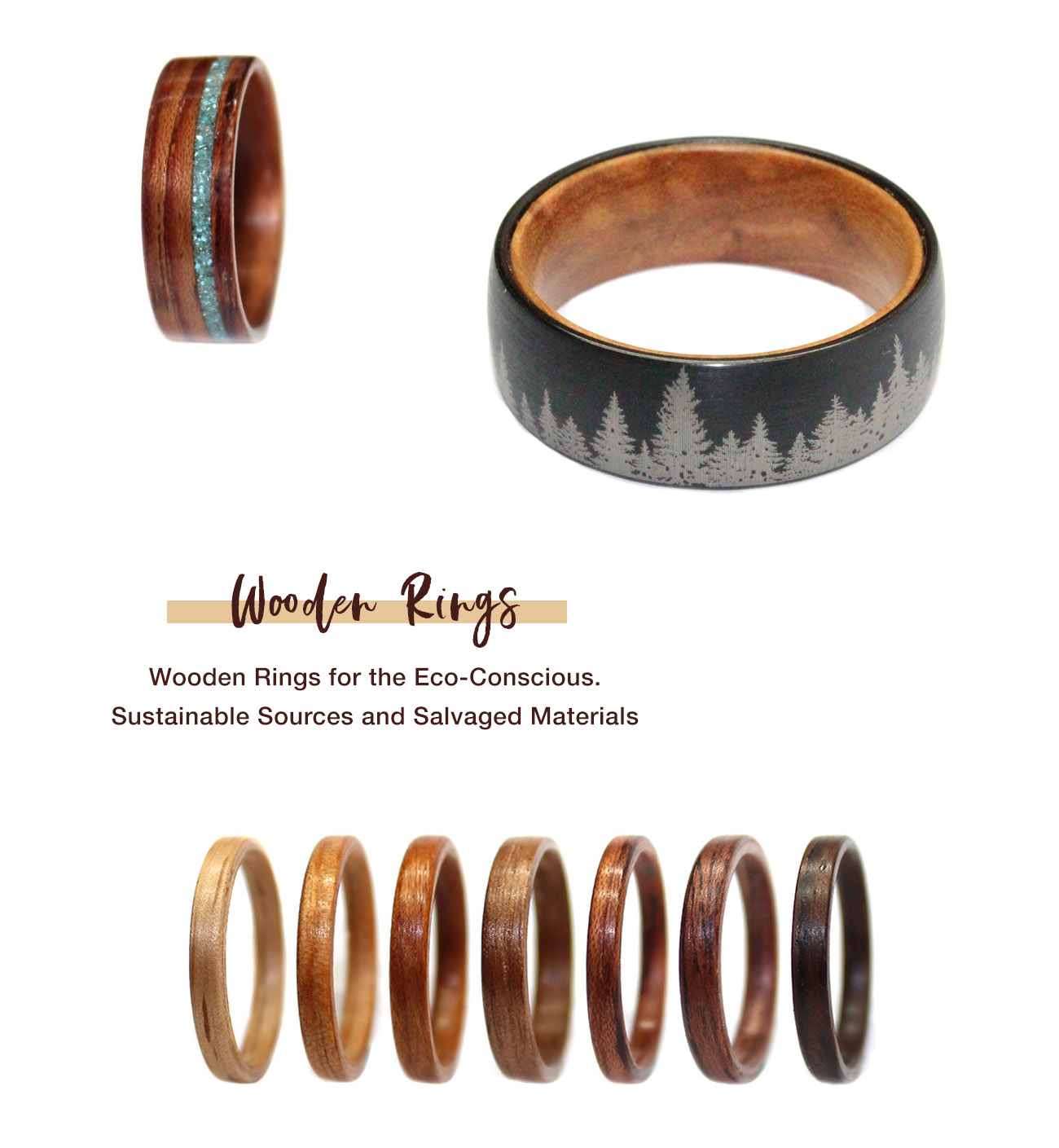 Wooden Rings for your Wedding