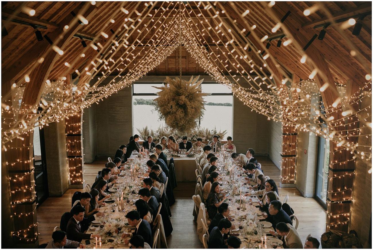 Twinkle lights wedding