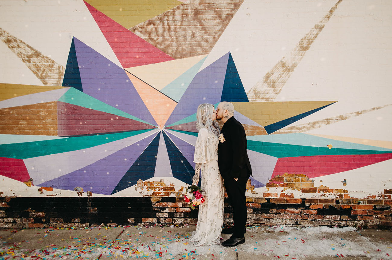 Edgy and Colorful DIY Wedding