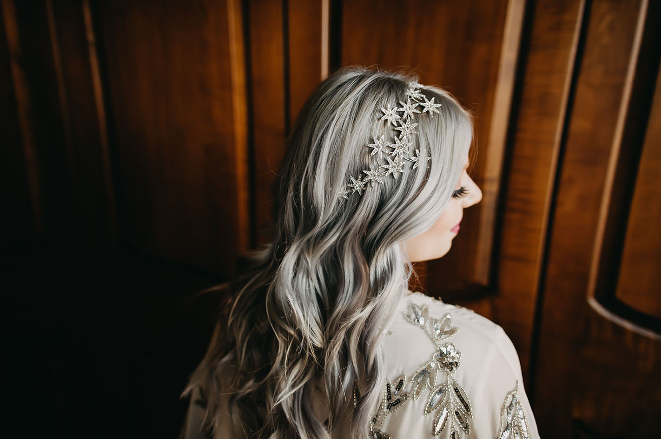 celestial bridal hair piece