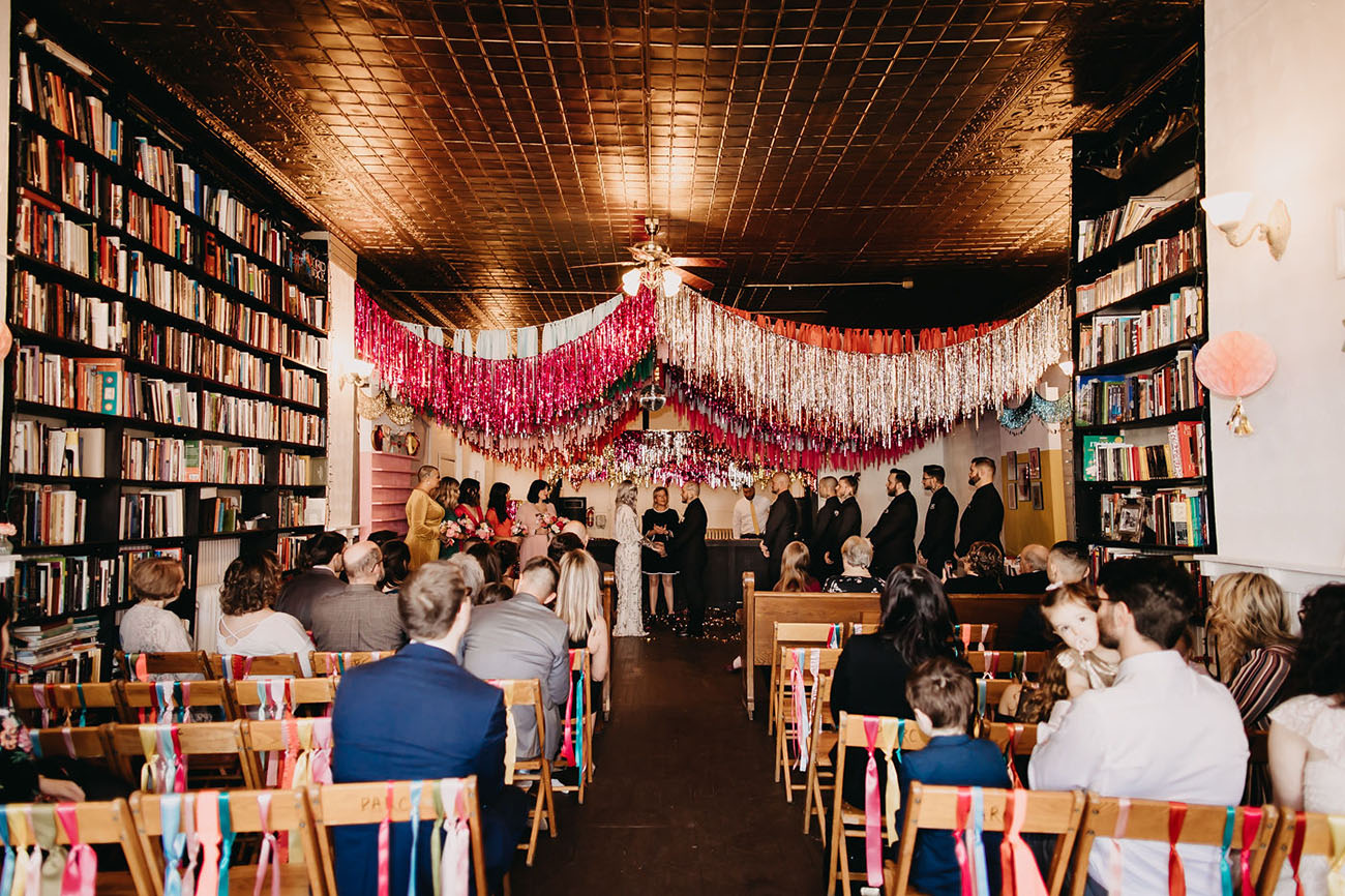 fringe ceiling wedding decor