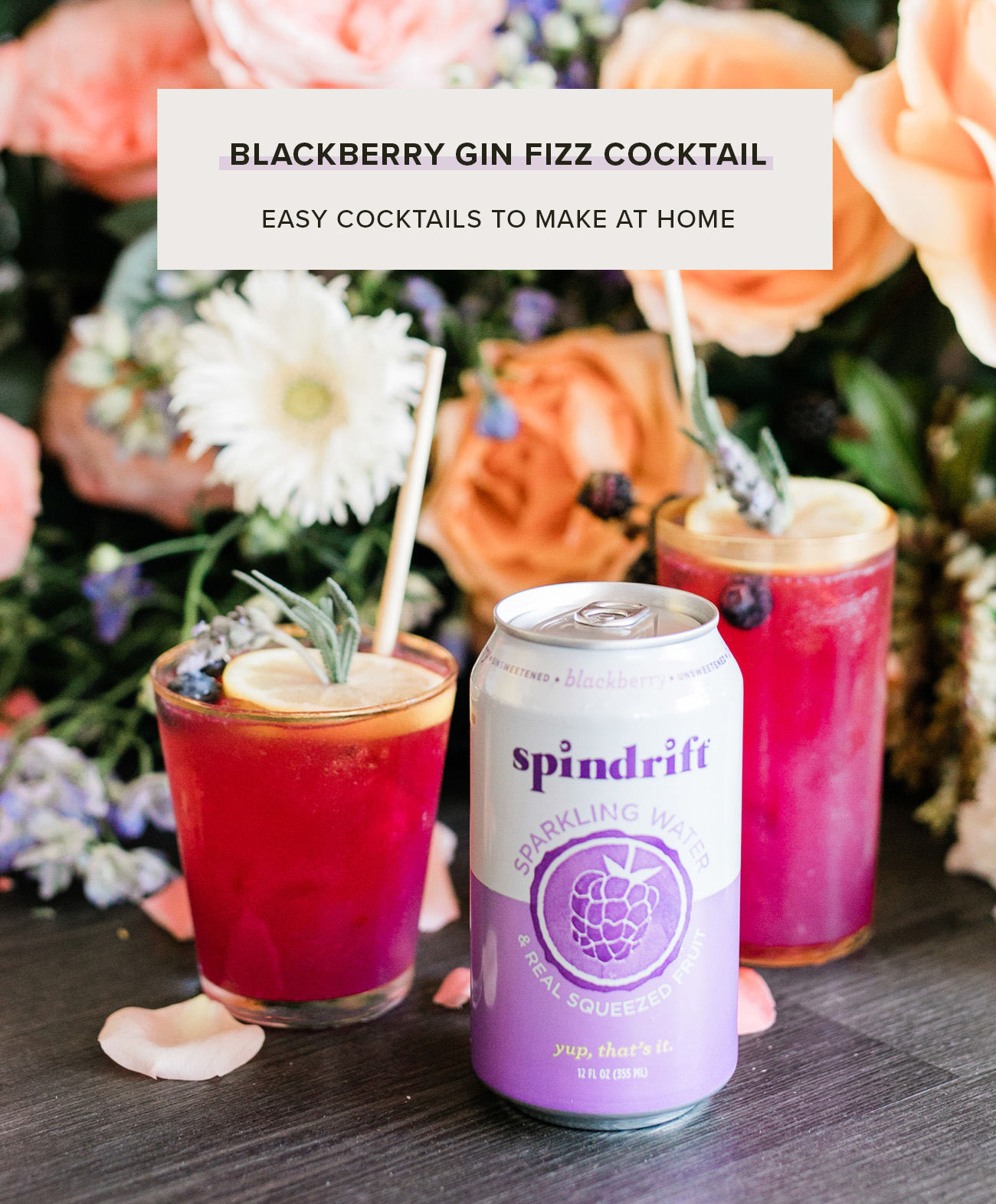 blackberry spindrift gin cocktail