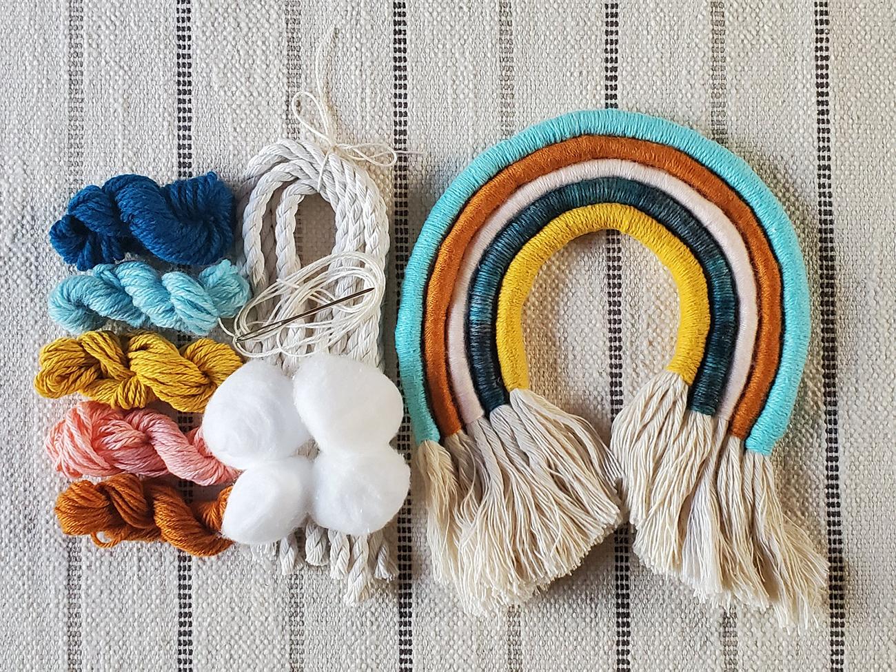 boho rainbow craft kit