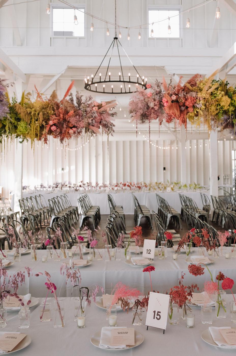 pastel hanging florals