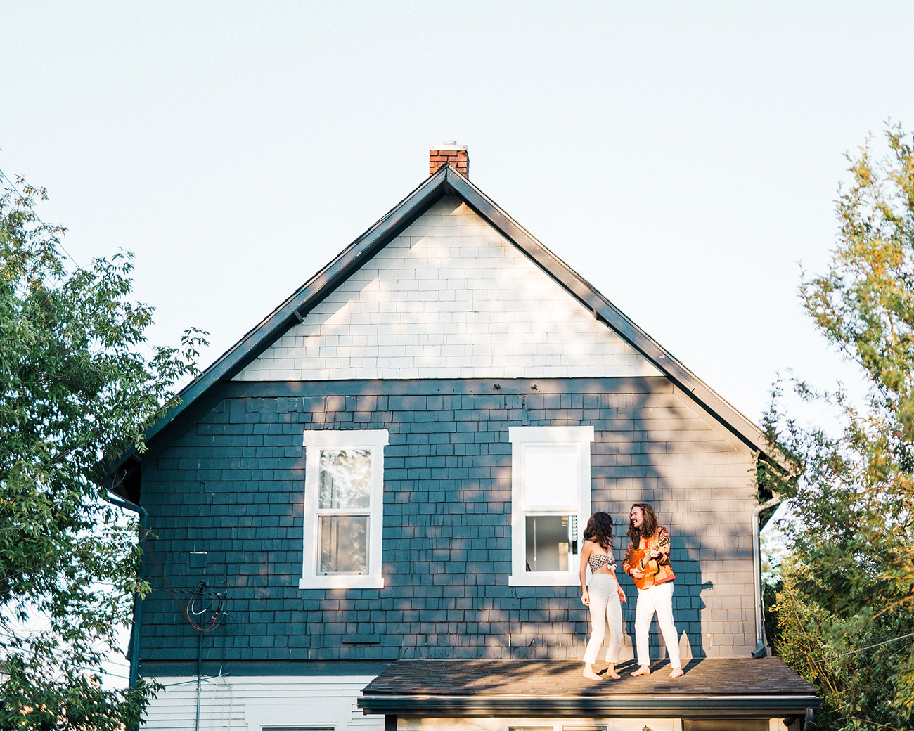 Couple Dancing on their Roof
