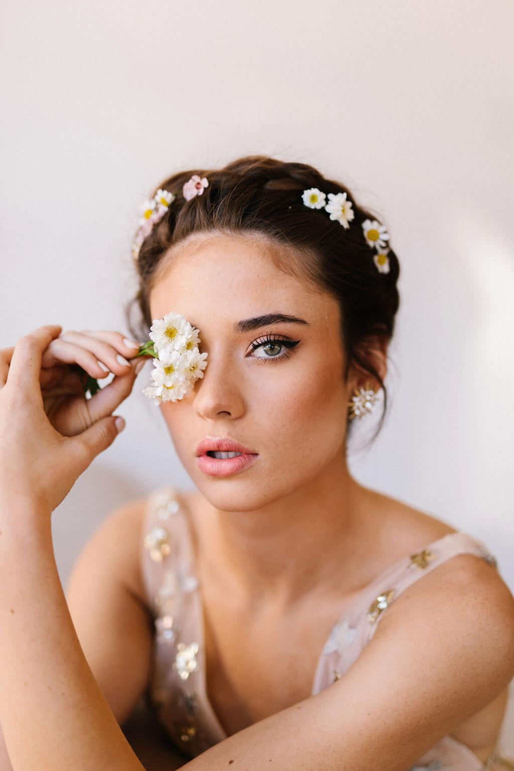 diy boho haircrown with flowers_01