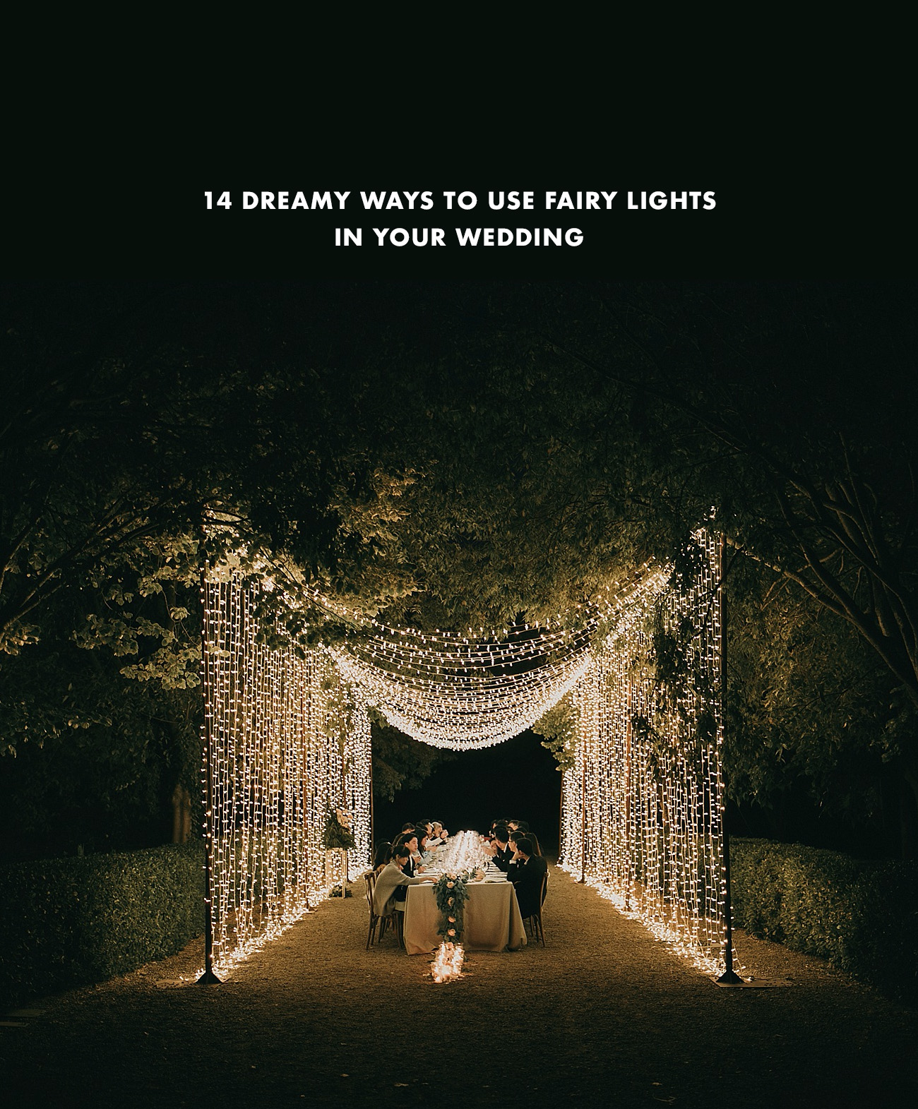 romantic fairy lights for your weddings