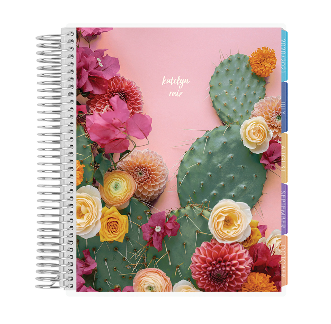 floral cactus life planner from Green Wedding Shoes and Erin Condren