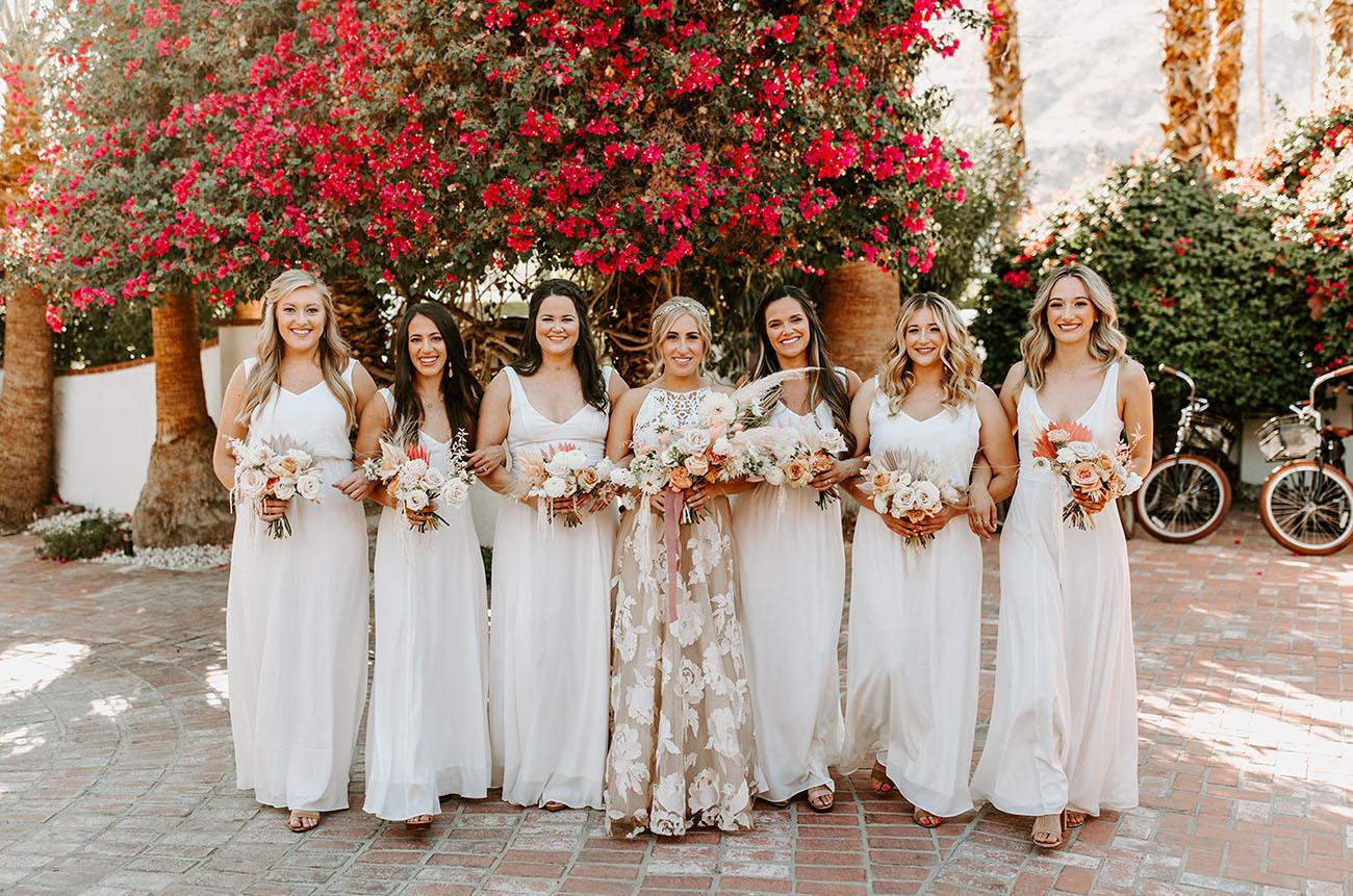 palm spring bridesmaids