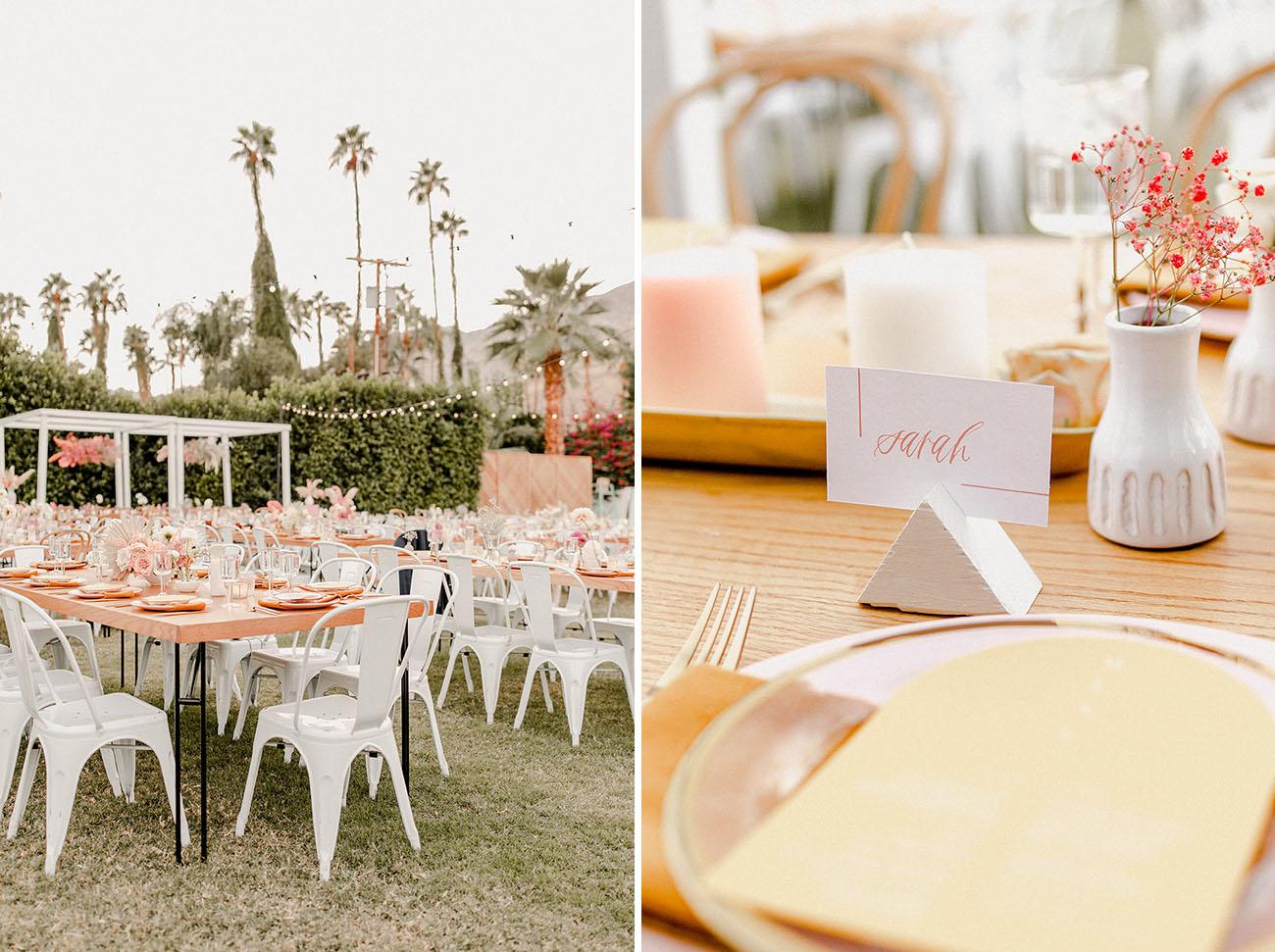 Funky Pastel Desert Wedding