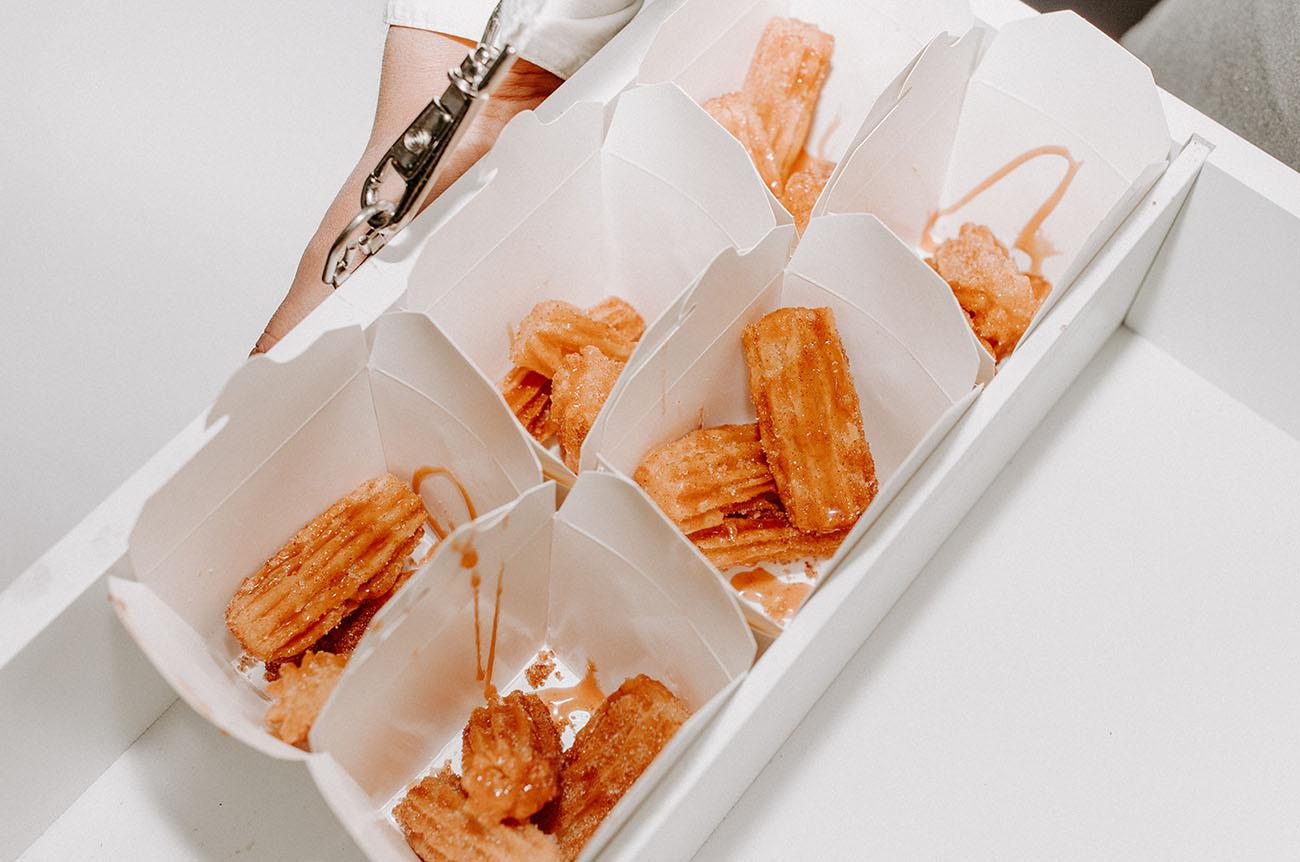 churro wedding dessert