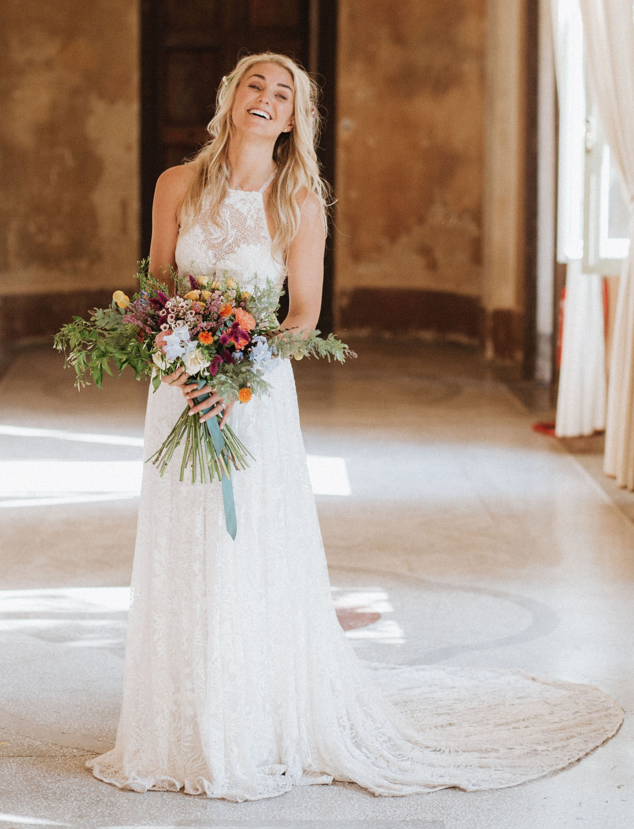 halter top wedding dress