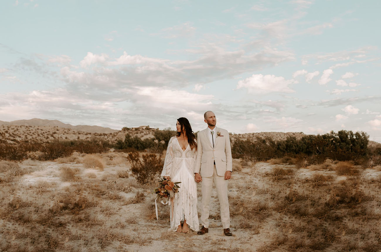 70s inspired Desert Wedding