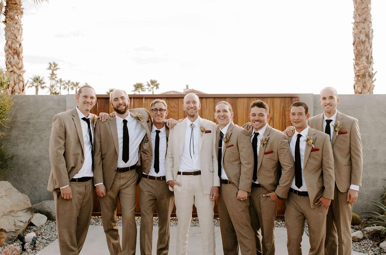 tan groomsmen
