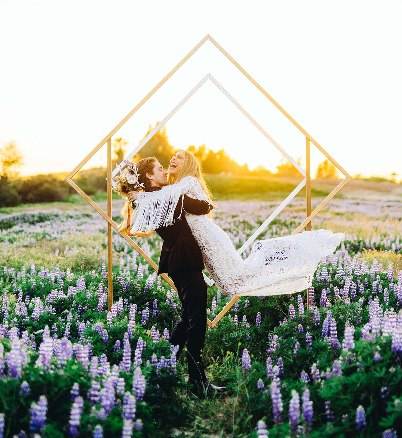 Lupine Field California Elopement