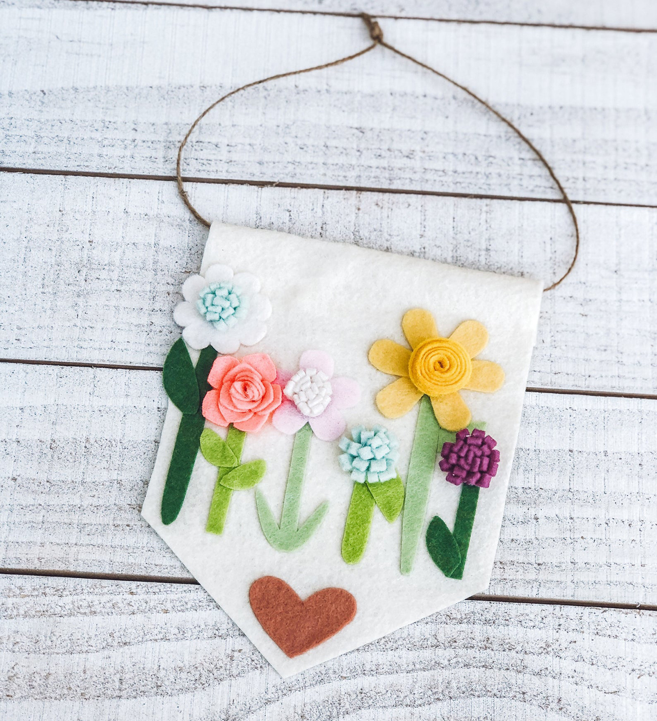 kid craft garden banner