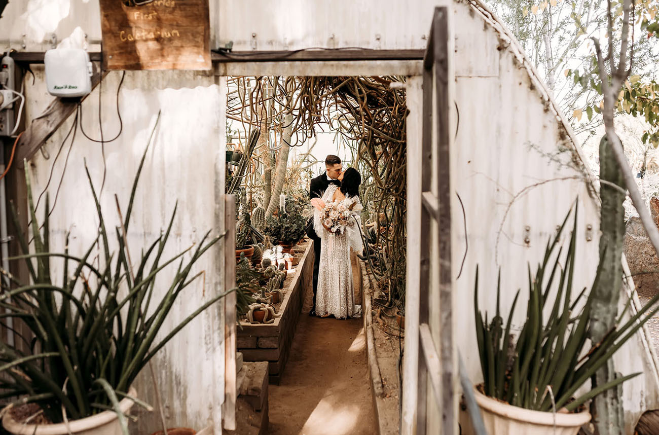 Pam Springs Ace Hotel Boho Wedding
