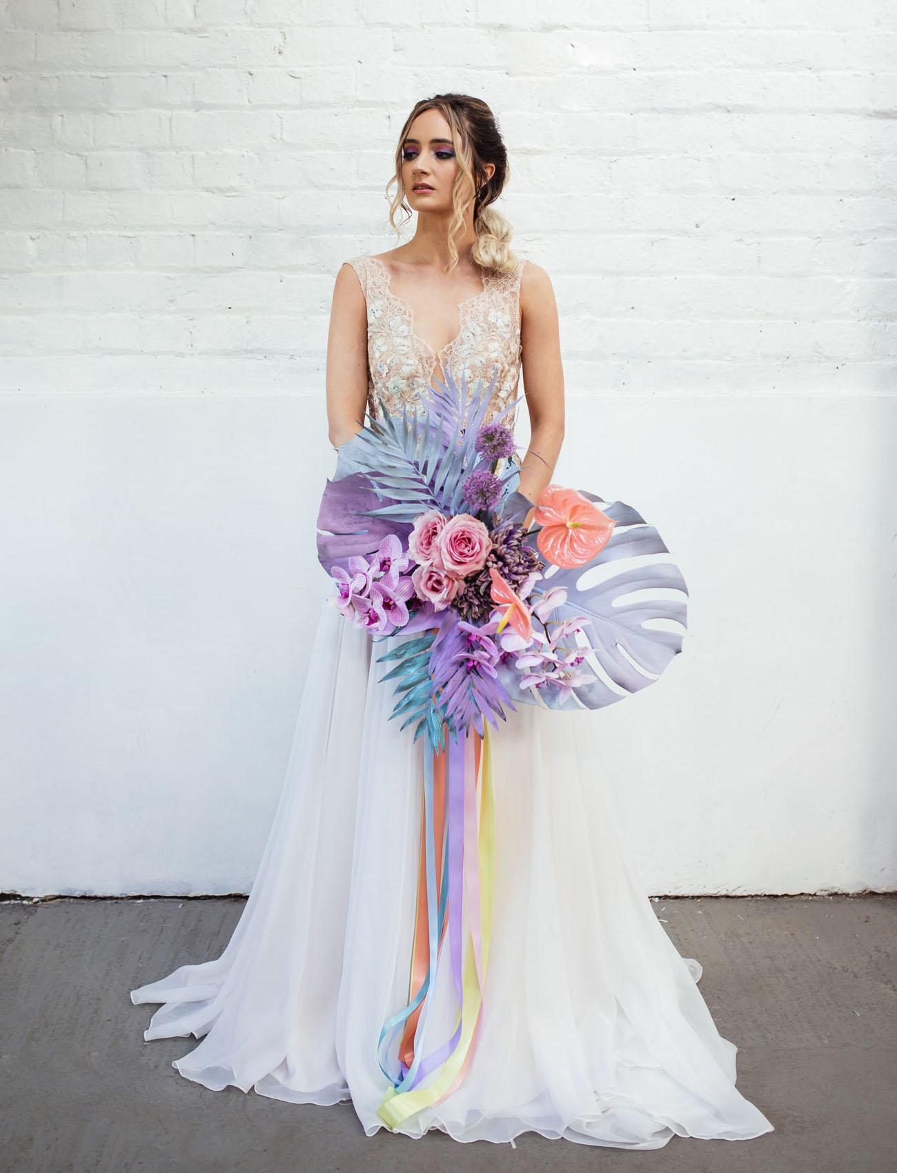 neon pastel bride