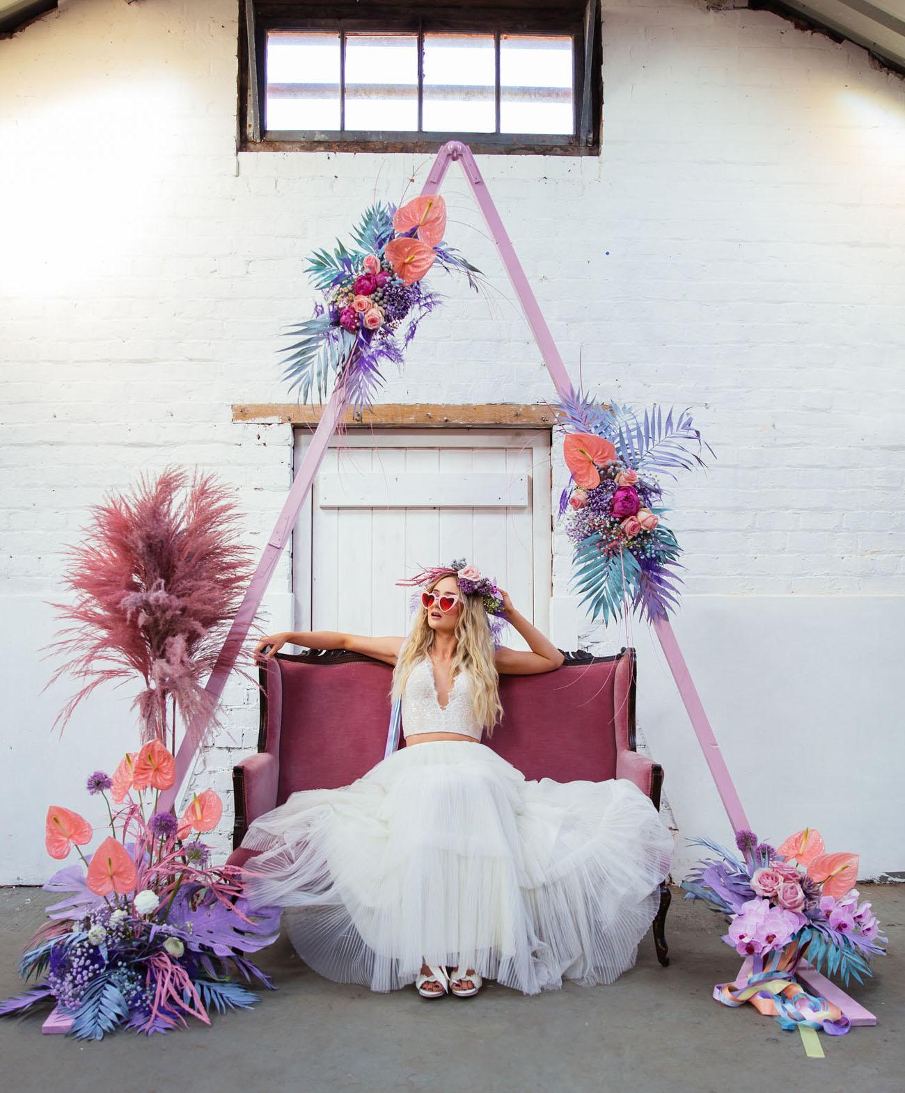 Neon Pastel Wedding Inspiration