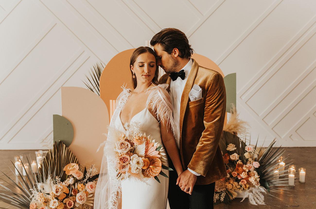 Modern Peach Wedding Inspiration
