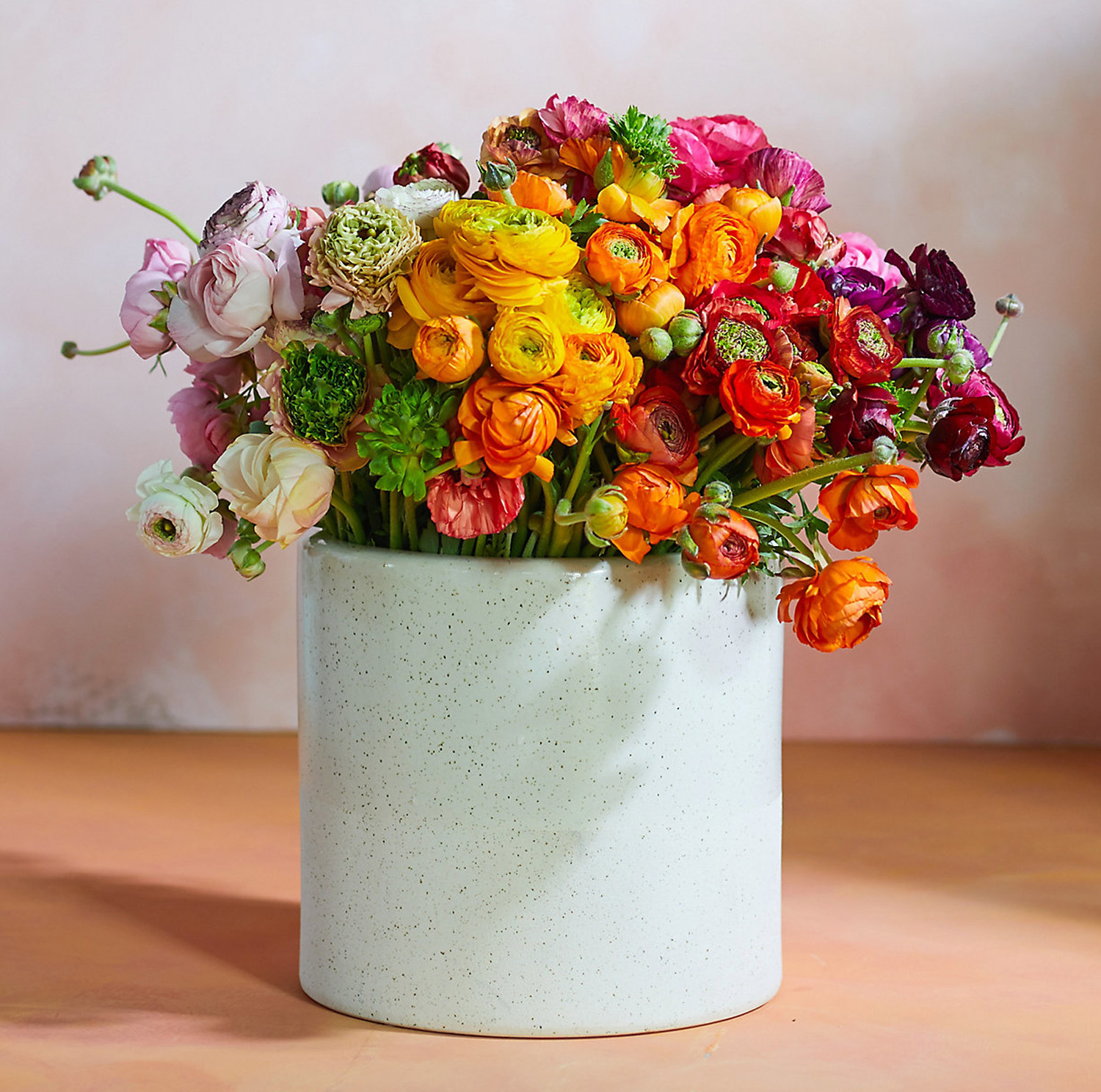rainbow ranunculus bunch of flowers for mother's day