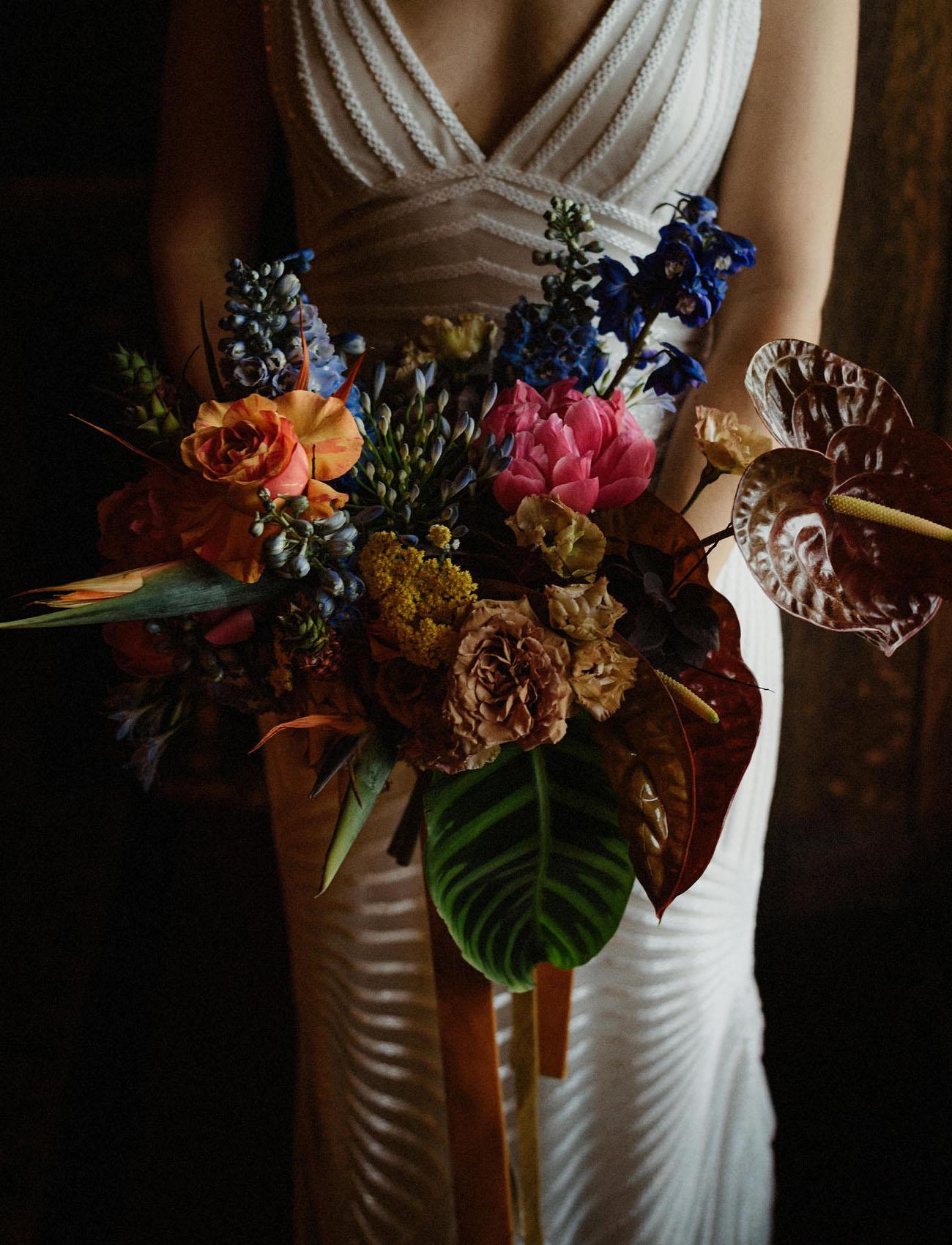 retro tropical bouquet