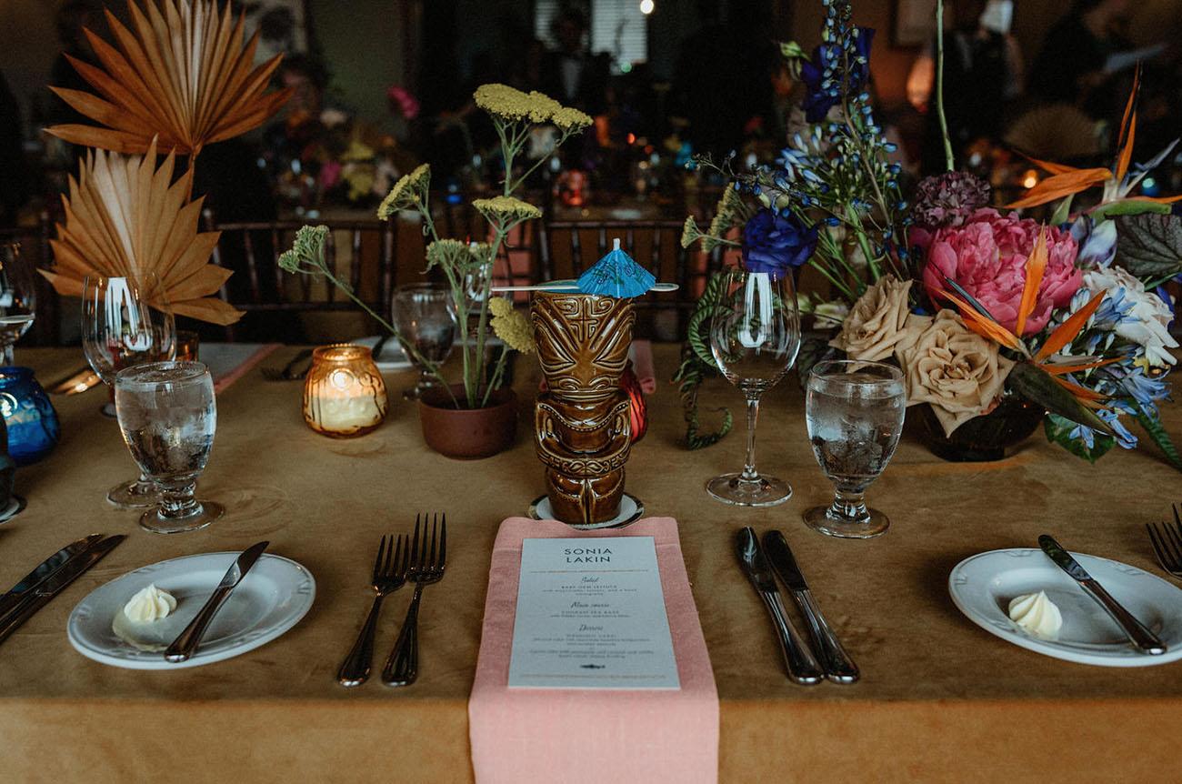 Retro Glam Tiki Wedding