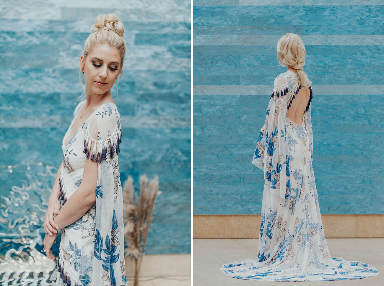 Rue de Seine blue wedding dress