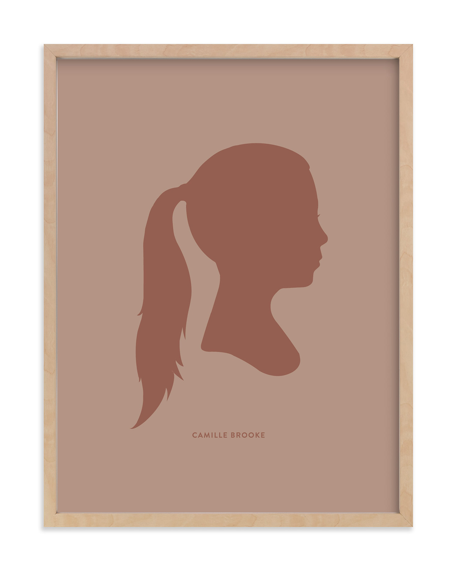 silhouette artwork for mothers day