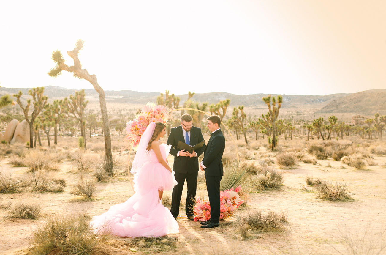 Palm Springs Pink Dress Elopement