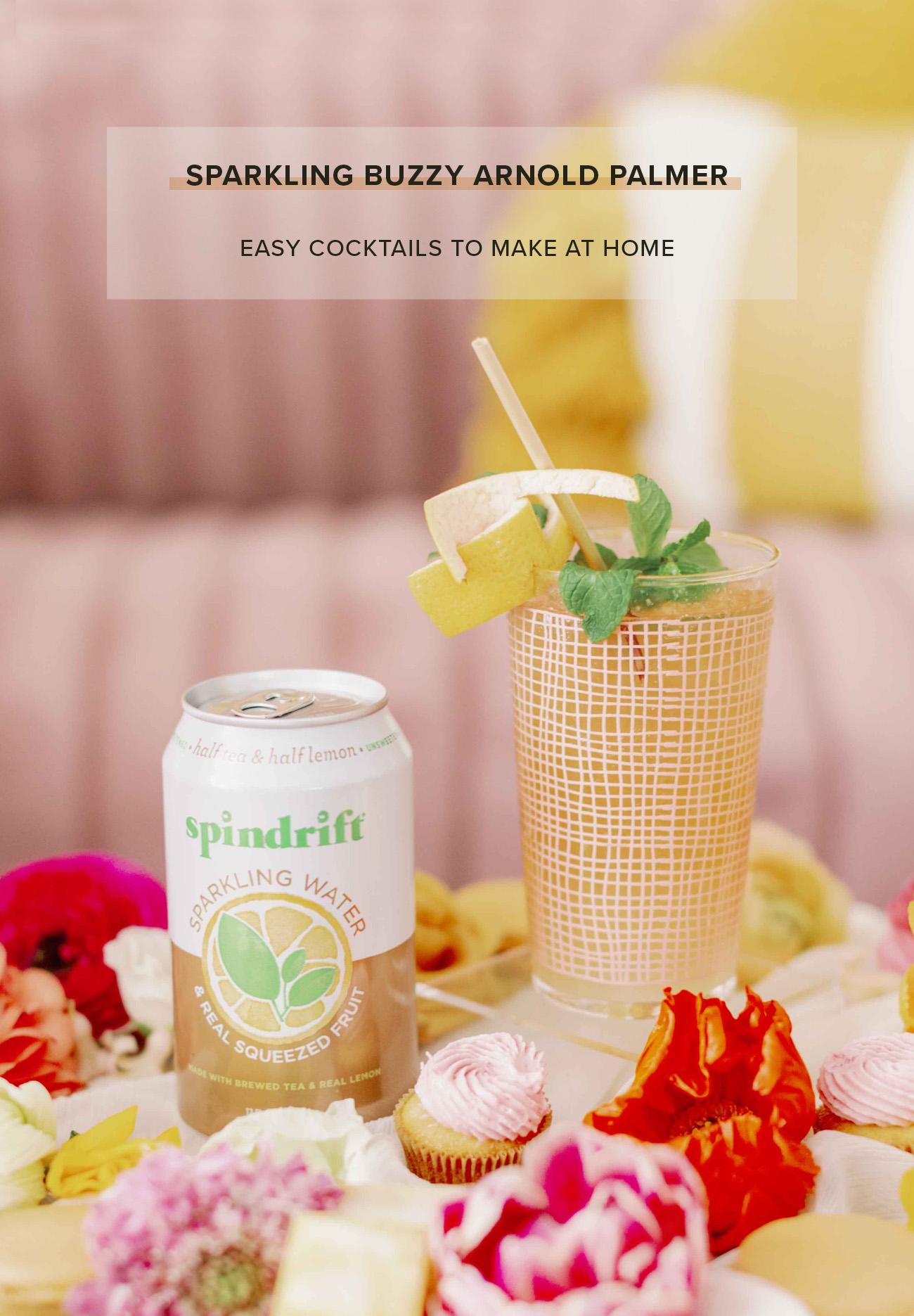 sparkling buzzy arnold palmer cocktail