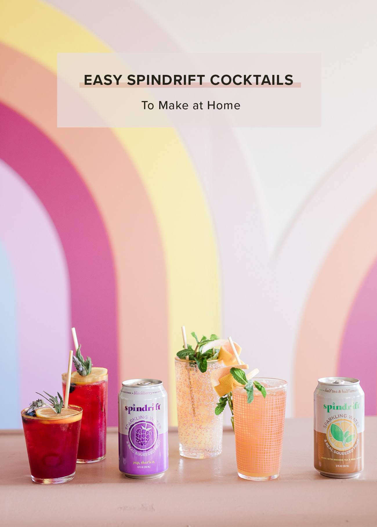 Spindrift cocktails to make at home