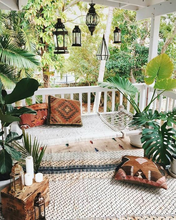 Boho Decor Small Patio Space