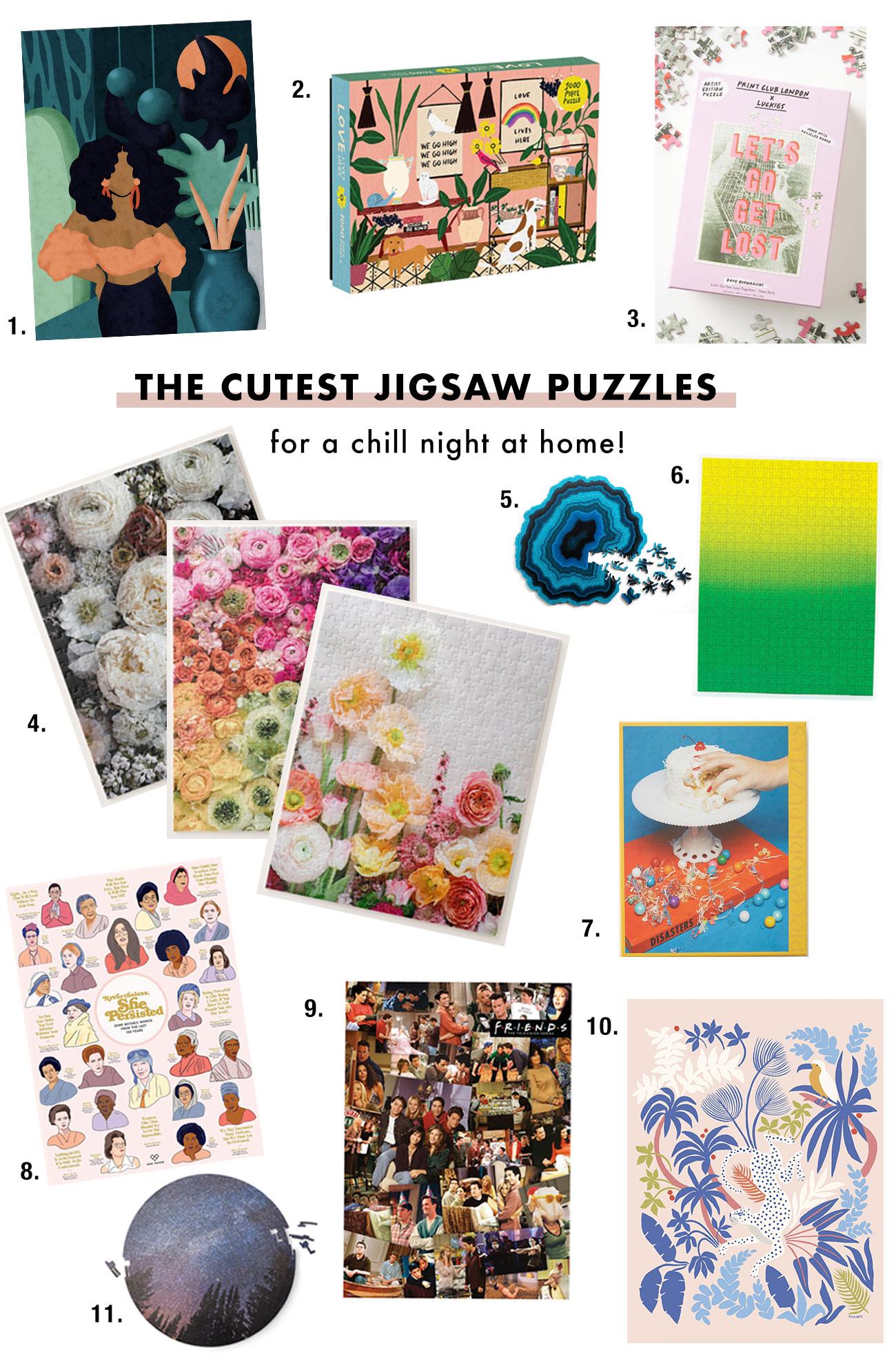 """https://greenweddingshoes.com/ """"width ="""" 1300 """"height ="""" 1967 """"srcset ="""" https://greenweddingshoes.com/wp-content/uploads/2020/05/Cute-Jigsaw-Puzzles.jpg 1300w, https : //i0.wp.com/greenweddingshoes.com/wp-content/uploads/2020/05/Cute-Jigsaw-Puzzles.jpg? resize = 198 300 198w, https://i0.wp.com/greenweddingshoes.com/ wp-content / uploads / 2020/05 / Cute-Jigsaw-Puzzles.jpg? resize = 677,1024 677w, https://i0.wp.com/greenweddingshoes.com/wp-content/uploads/2020/05/Cute -Jigsaw-Puzzles.jpg? Resize = 768,1162 768w, https://i0.wp.com/greenweddingshoes.com/wp-content/uploads/2020/05/Cute-Jigsaw-Puzzles.jpg?resize=800, 1210 800w, https://i0.wp.com/greenweddingshoes.com/wp-content/uploads/2020/05/Cute-Jigsaw-Puzzles.jpg?resize=400,605 400w, https://i0.wp.com/ greenweddingshoes.com/wp-content/uploads/2020/05/Cute-Jigsaw-Puzzles.jpg?resize=1015,1536 1015w, https://i0.wp.com/greenweddingshoes.com/wp-content/uploads/2020 /05/Cute-Jigsaw-Puzzles.jpg?resize=300,454 300w """"tailles ="""" (largeur max: 1300px) 100vw, 1300px """"/> 1. Reyna 450 Casse-tête + kit de conservation par Jiggy 40 $ // 2. Lives Here Casse-tête de 1000 pièces pour adultes 30 $ // 3. Let's Go Get Lost 500 pièces Puzzle 28 $ // // 4. GWS Floral Puzzles 18 $ - 63 $ // 5. Geode Puzzle 65 $ // 6. Puzzle Gradient de 500 pièces (disponible en 4 couleurs) 25 $ // 7. Puzzle 1000 pièces Life of the Party 36 $ // 8. Néanmoins, elle a persisté Puzzle 1000 pièces 25 $ // 9. Puzzle 1000 pièces Friends 20 $ // 9 Puzzle Jungle Cat 50 pièces + Kit de préservation par Jiggy 40 $ // 11. Puzzle en bois Night Sky 90 $</p> <h4 style="""