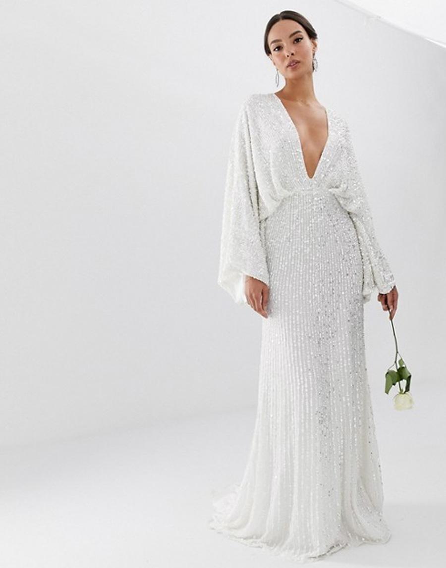 ASOS Sequin Wedding Dress