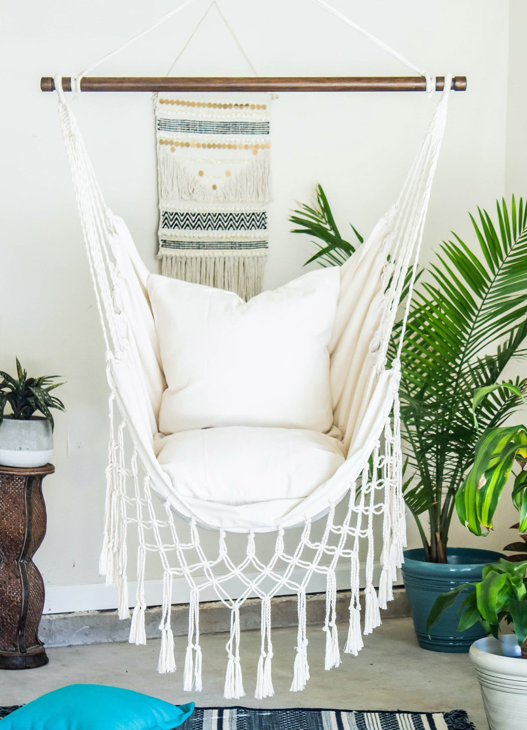 fringe hammock chair